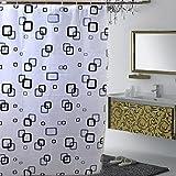 Milopon Duschvorhang Anti-Schimmel Bad Duschvorhang PEVA Wasserdicht und Mildewproof Badvorhang mit 12 Ringe, Bad Vorhang für Badezimmer Badewanne size 180 x 200CM