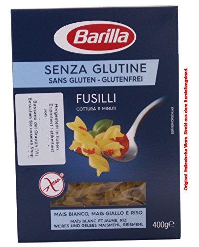 Barilla Senza Glutine (Glutenfrei) Fusilli 8 x 400g = 3200g