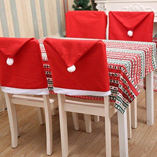 Navidad silla cubre para Navidad Santa Red Hat silla conjuntos decoración 60* 50cm