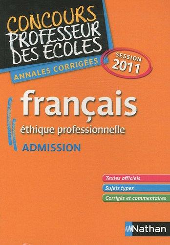 FRANCAIS - CRPE ADMISSION 2011