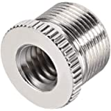 """Sourcingmap 3/8"""" Female To 5/8' Male Threaded Screw Adapter For Microphone Stand Copper 1pcs"""