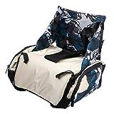 #8: Urban Kings multi-function baby booster seat,baby diaper bag, mummy bag (GREEN PRINT)