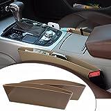#3: Ezip 2 X Beige Car Catcher Storage Bag Box Caddy Car Seat Side Gap Pocket Car Seat Side Pocket Caddy Car Seat Slit Pocket Catcher For Hyundai I 20 Elite