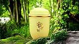 """Biologisch abbaubar Verbrennung Asche Urne–Erwachsene Größe–Ivory Creme """"Große Gold Rose Emblem"""""""