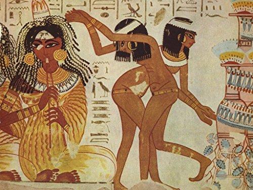 Pintor egipcio alrededor de 1400 aC Chr. - cantantes y bailarines, detalle