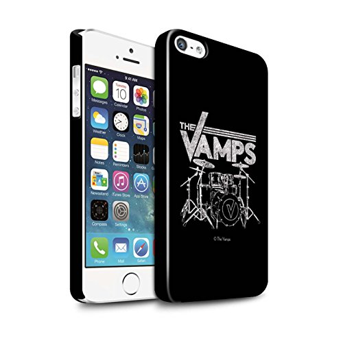 Officiel The Vamps Coque / Clipser Brillant Etui pour Apple iPhone 5/5S / Pack 6pcs Design / The Vamps Graffiti Logo Groupe Collection Batterie