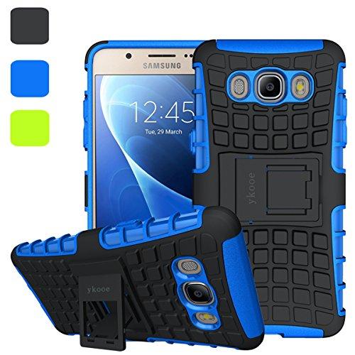 ykooe Handys Schutzhülle Ständer für Samsung Galaxy J5 (2016) Hülle 5.2 Zoll (Blau)