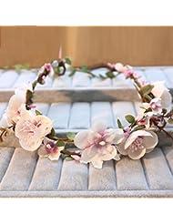 Couronne de coiffure de mariée, fleur de tête de vacances, ornement de fleurs de lune de miel, guirlandes de fleurs