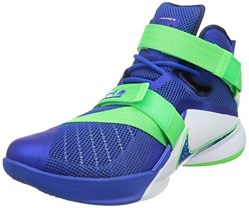 Nike Lebron Soldier Ix, Scarpe sportive, Uomo Game Royal/White/Green Strike