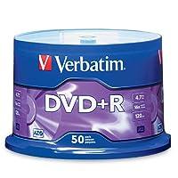 Verbatim 16x DVD+R Media 4.7GB DVD+R 50pc(s) - blank DVDs (4.7 GB, DVD+R, 50 pc(s), 120 min, Cakebox)