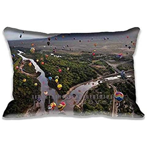 20x30inch Comfortable Balloon Fiesta At The Rio Grande In Albuquerque Pillow Covers Fashion Pattern Sofa Bed Home Decor Pillow Case(Twin Side)for New Year Gift