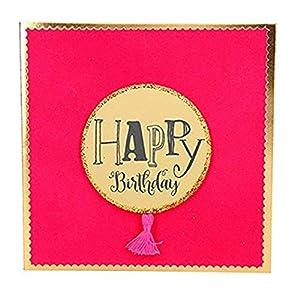 Depesche 8211.032Tarjeta de felicitación Glamour con Ornamento y Purpurina, cumpleaños