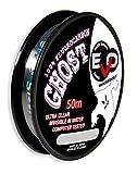 Evo Fishing EV42140 Monofilo Invisibile Evo Ghost Fluorocarbon Wire 50 m, Diametro 0.40 mm
