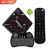[2018 TV Box 4GB + 32GB] SINUK H96 MAX H2 Android 7.1 RK3328 Quad-Core Ultra HD smart Set-Top Box 2.4G / 5G Dual WiFi 100M LAN Ethernet BT 4.0 / 4 USB Ports / Mini Wireless Backlit Keyboard