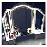 Caxmtu LED Mirror Lights Hollywood Style Makeup Table Light Dressing Vanity light Strip Light Brightness Adjustable 240 LEDs 13ft 6000k White Flexible, Mirror not Included