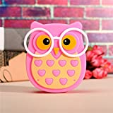 Ascension ® Owl LED Plug In Night Light For Kids- Wall Lamp Take Good Care Children Sleep Light Sensor Auto Controlled Nightlights For Baby Nursing Kids Favourite Birthday & Party Return Gifts (Pink)