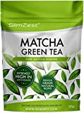 Matcha Green Tea Powder - Premium Grade 120g Pouch - Super Strength Antioxidant UK Manufactured Ultra Fine Easy To Mix Matcha Powder - Perfect for Drinks and Baking with FREE Recipe eBook Included - Natural Metabolism, Energy & Focus Booster - Great Value For Money From A Well Known UK Brand SlimZest - Vegan & Vegetarian Friendly