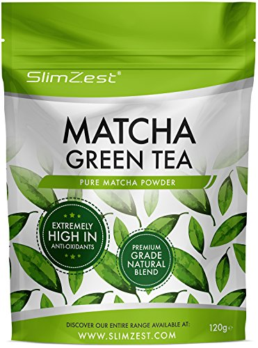 Matcha Green Tea Powder - Premium Grade 120g Pouch - Super Strength Antioxidant UK Made Ultra Fine Easy To Mix Matcha Powder - Perfect for Drinks and Baking with Recipe eBook Included Test