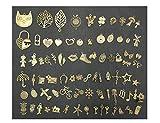 Vintage-Metallanhänger zum Basteln und als Dekoration, mit 1Schloss und Schlüssel für handgefertigten Schmuck - 81Stück, bronze, TypeA-HearLock