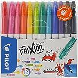 Pilot 936404 Frixion Pochette de 12 Feutres effaçables Multicolore