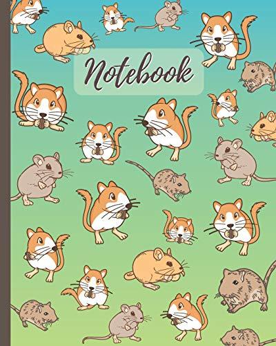 Notebook: Cute Gerbils Cartoon Cover (Volume 2) - Lined Notebook, Diary, Track, Log & Journal - Cute Gift for Boys Girls Teens Men Women (8