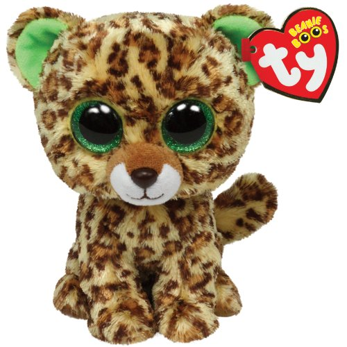 Beanie Boo Leopard - Speckles - Brown/Yellow - 24cm 9""