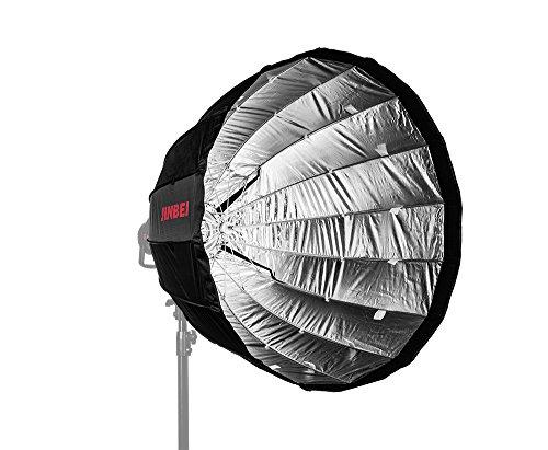 JINBEI Deep Umbrella Softbox 90 cm mit Bowens S-Type Bajonett, erweiterbar mit Wabe/Grid