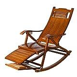 LHNLY-Inclinable Vintage Chaise à Bascule Meubles de Jardin Pliant Fauteuil à Bascule Extérieur pour Enfant Adulte Fauteuil Relaxant Pliable Rocking Chair de Salon Bureau Confort Relax
