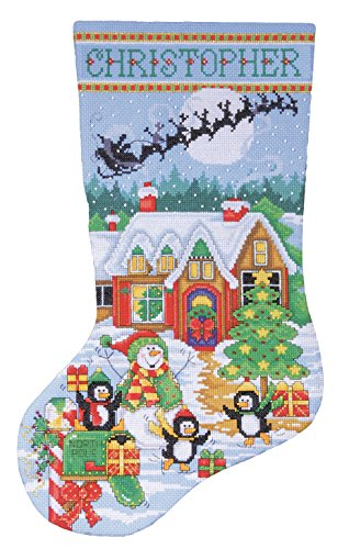Design Works Penguin Party Stocking