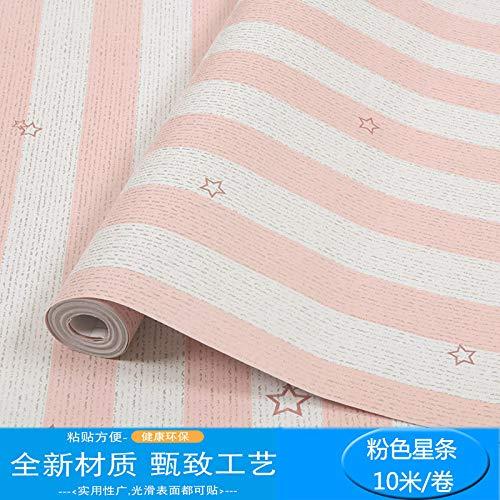 lsaiyy Tapete selbstklebend Schlafzimmer warm mädchen wasserdicht 10 m PVC einfarbig wandaufkleber tapete schlafsaal College Schlafzimmer tapete- 45CMX10M