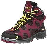 Jack Wolfskin Unisex-Kinder Crosswind WT Texapore Mid K Trekking-& Wanderstiefel, Rot (Dark Berry 2009), 35 EU