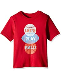 The Children's Place Boys' Short Sleeve 'Let's Play Ball' Sport Balls Graphic T-Shirt