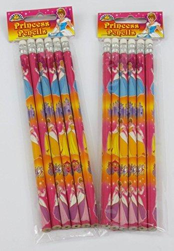 playwrite-confezione-da-12-matite-con-gomma-motivo-principesse