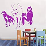 zhuziji Nouveau Loup Sticker Vinyle Sticker Mural Predator Amovible Animal Vinyle...