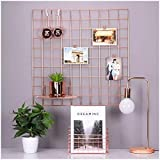 PIKIFY DIY Steel Grid Photo Frame for Wall [40 * 40 cm] Clip Holder Photo Frame,Multi Functional Creative Mesh Wall Grid [Mad