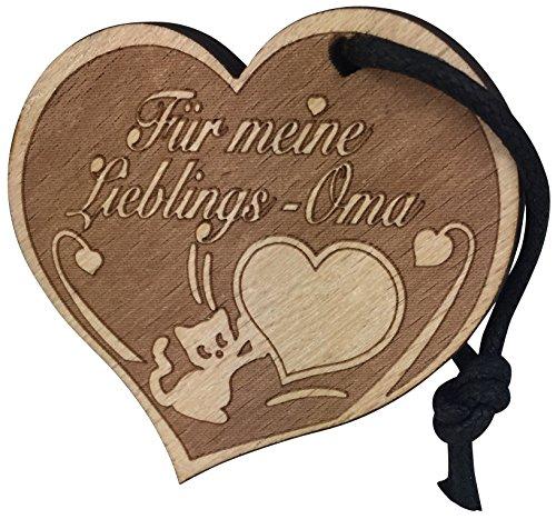 endlosschenken Toller Herz Schlüsselanhänger Für Meine Lieblings-Oma aus Holz Geschenk sehr Gute Qualität ORIGINAL