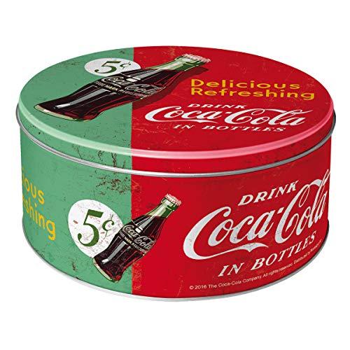 Nostalgic-Art 30603 Coca-Cola - Delicious Refreshing Green, Vorratsdose Rund L (Vanilla Sprite)
