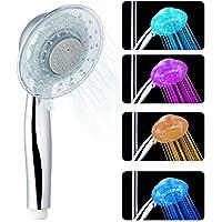 LED Handbrause Farbwechsel Duschkopf, 7 Farben, einfache Installation, einstellbare Wasserdurchfluss