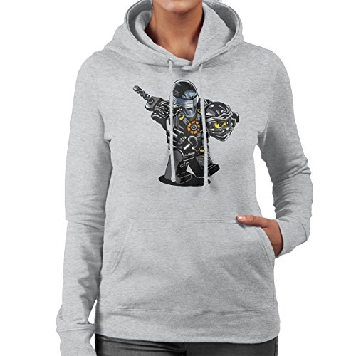 G I Joe Ninjago Cole Women's Hooded Sweatshirt Heather Grey