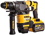 Dewalt DCH334X2-GB Brushless XR Flex Volt SDS Rotary Hammer 3-Mode in TSTAK Box with Quick Change Chuck, 54 V, Yellow/Black, Set of 9 Piece