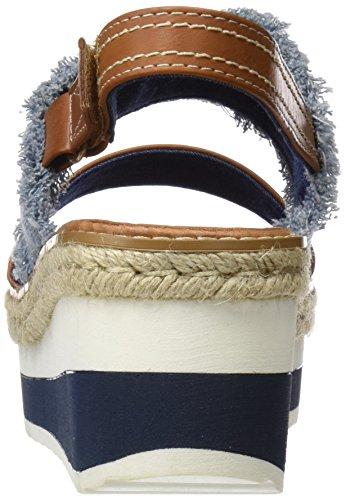 Refresh 64291, Sandales Bout Ouvert Femme Bleu (Jeans)