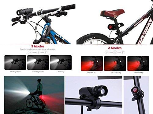 adc02381c TriEcoWorld mountain bike super ultra luminoso LED luci set ...