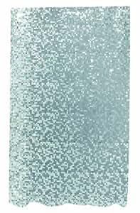 Spirella Rideau de douche en plastique PEVA transparent opaque Effet facettes/gris/blanc 180 x 200 cm