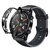 sciuU Hülle für Huawei GT Active 46mm, Slim Soft Flexible TPU-Gehäuse Schutzhülle Case Durchsichtig Schale Kompletter Schutz Tasche Cover für Huawei GT Active Smart Watch - Schwarzes