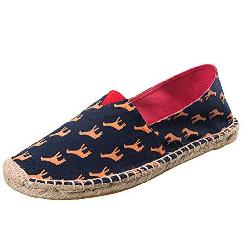 Vogstyle Espadrilles Unisex en Toile Cousue Chaussure de Marche Semelle Caoutchouc Mode Corde Tressée Stile 9-Giraffa