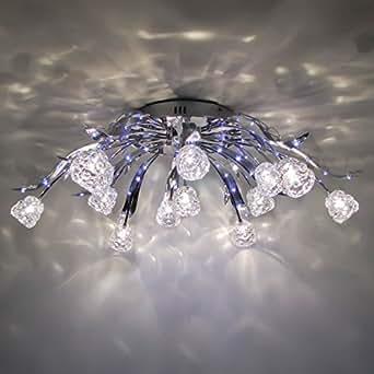 Lustre plafonnier design tulipe 80cm en soldes amazon for Luminaires exterieurs soldes