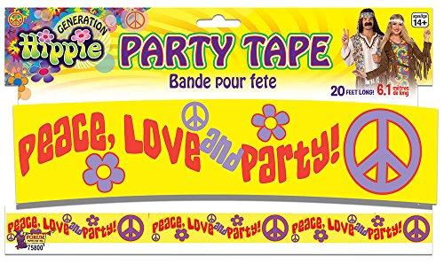 Forum Novelties x75800Hippie Dekoration Party Tape, mehrfarbig, one size