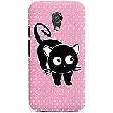 Motorola Moto G2 Hülle Premium Case Cover Katze Punkte Cat