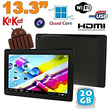 Tablette tactile 13 pouces Android 4.4 KitKat Wi-Fi Bluetooth 20Go