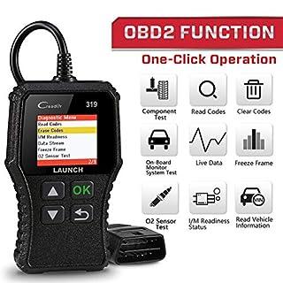 LAUNCH OBD2 Diagnose CR319 Scanner Gerät Universal Automotor Fehlercode-Lesegerät,O2-Sensor und EVAP Systeme Überprüft, unterstützt Mode6